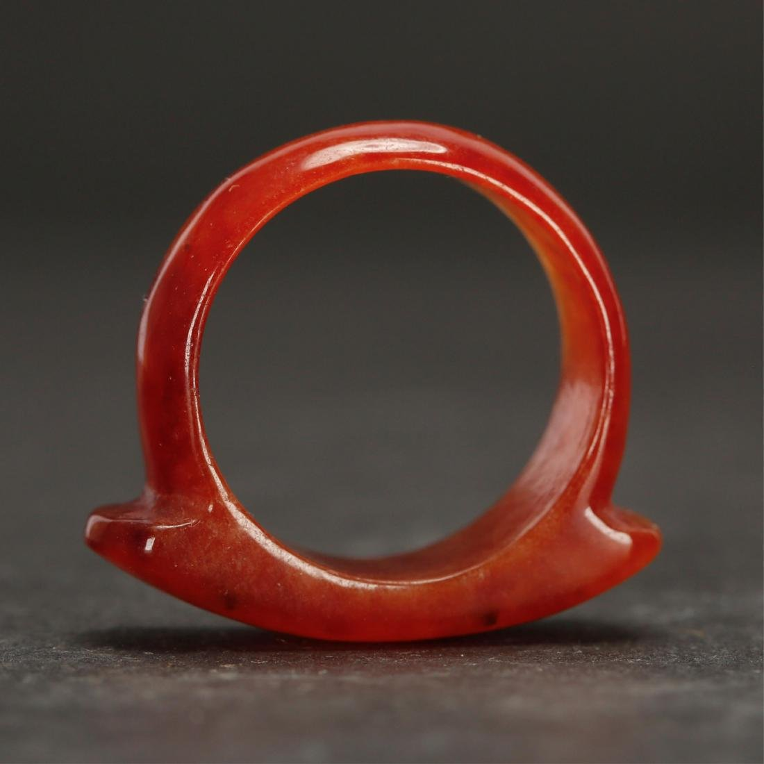 CHINESE AGATE RING