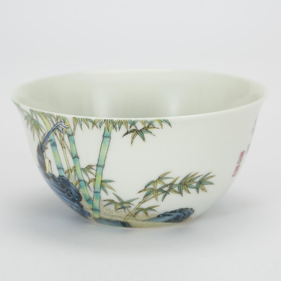 CHINESE PAINTED PORCELAIN BOWL - 2