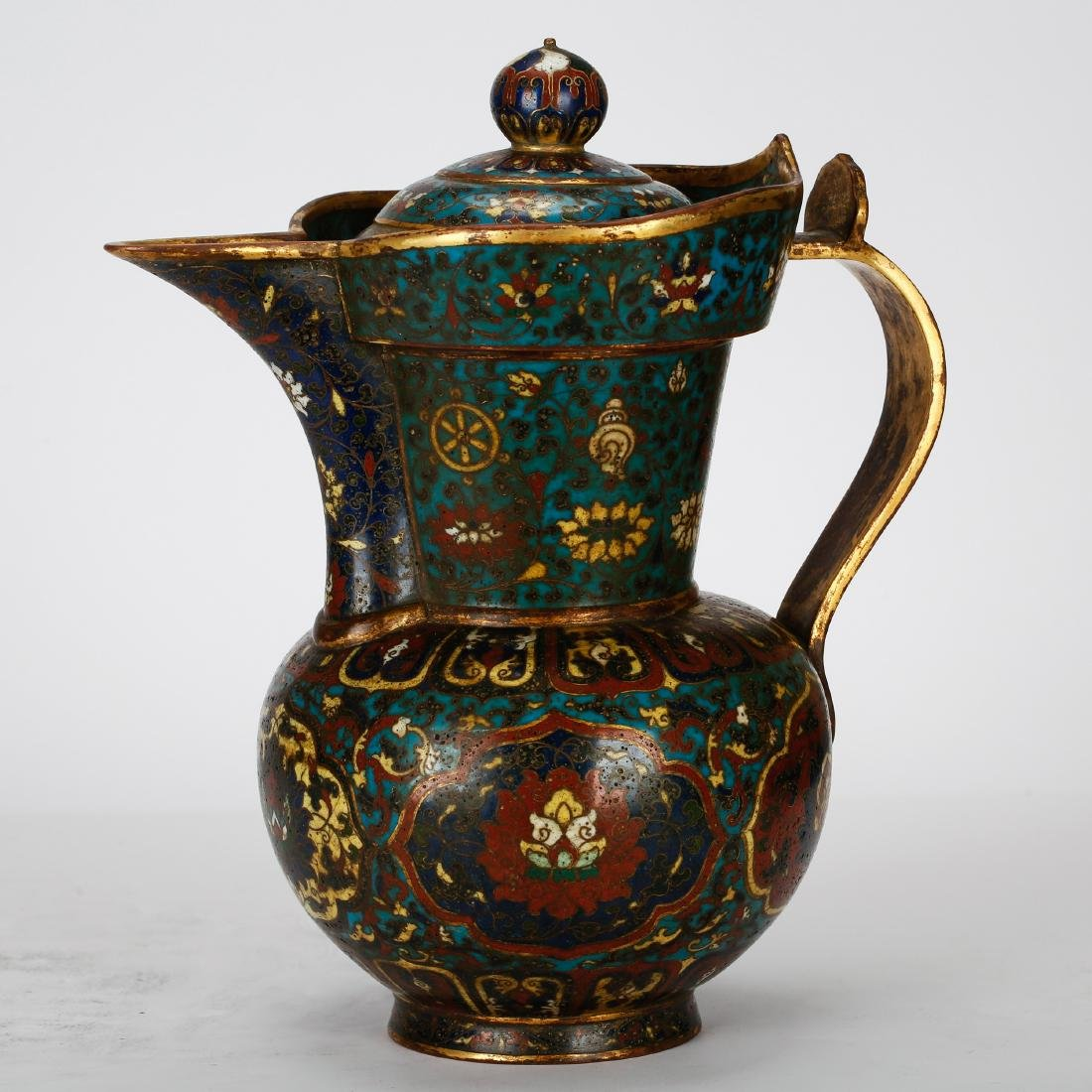 CHINESE CLOISONNE WATER PITCHER