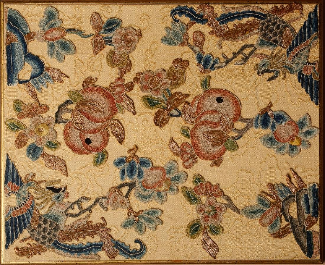 CHINESE EMBROIDERY OF PHOENIX MOTIF