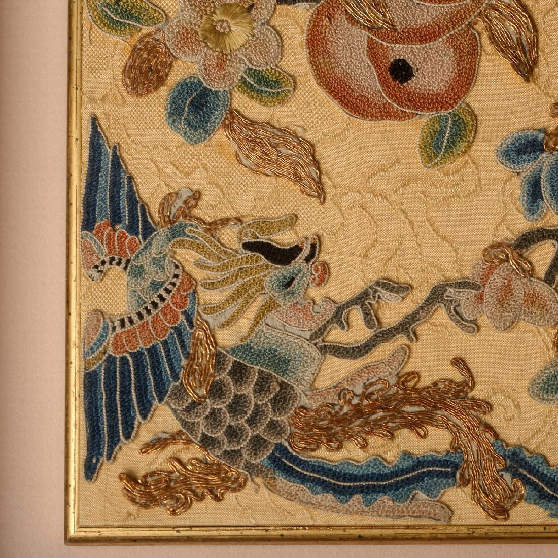CHINESE EMBROIDERY OF PHOENIX MOTIF - 2