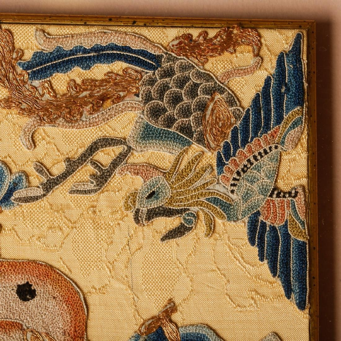 CHINESE EMBROIDERY OF PHOENIX MOTIF - 3