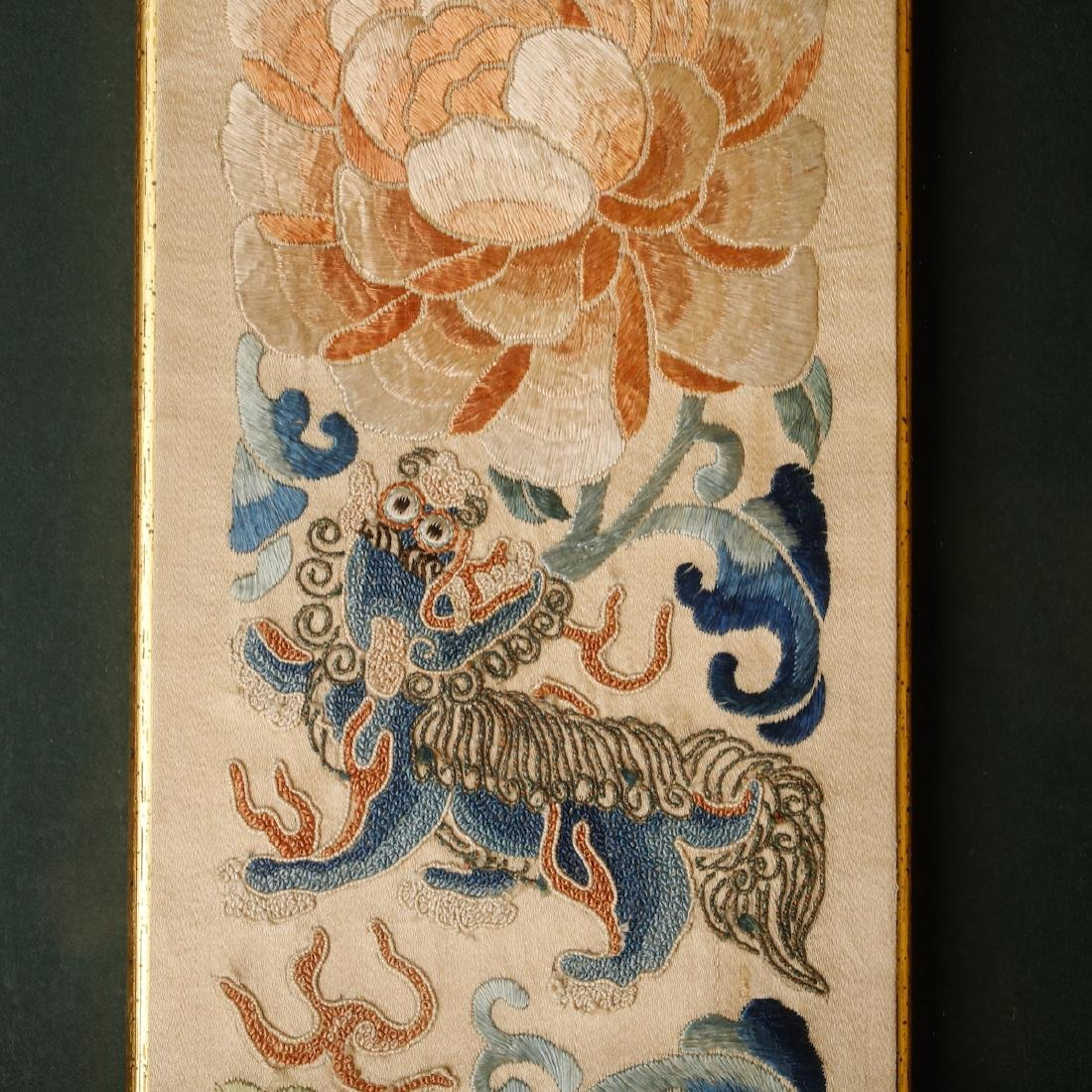 CHINESE EMBROIDERY OF FOOLION MOTIF - 3