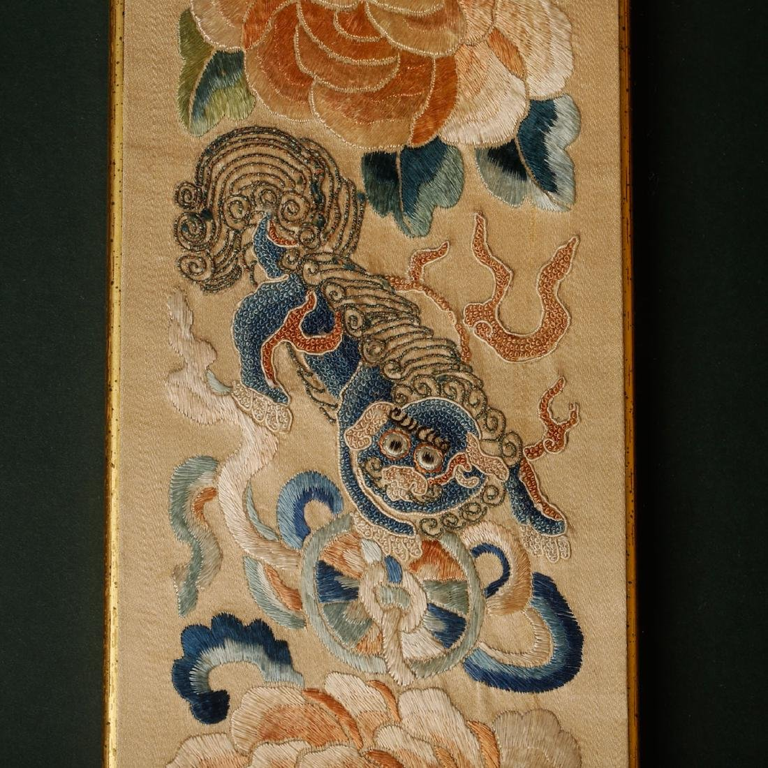 CHINESE EMBROIDERY OF FOOLION MOTIF - 4