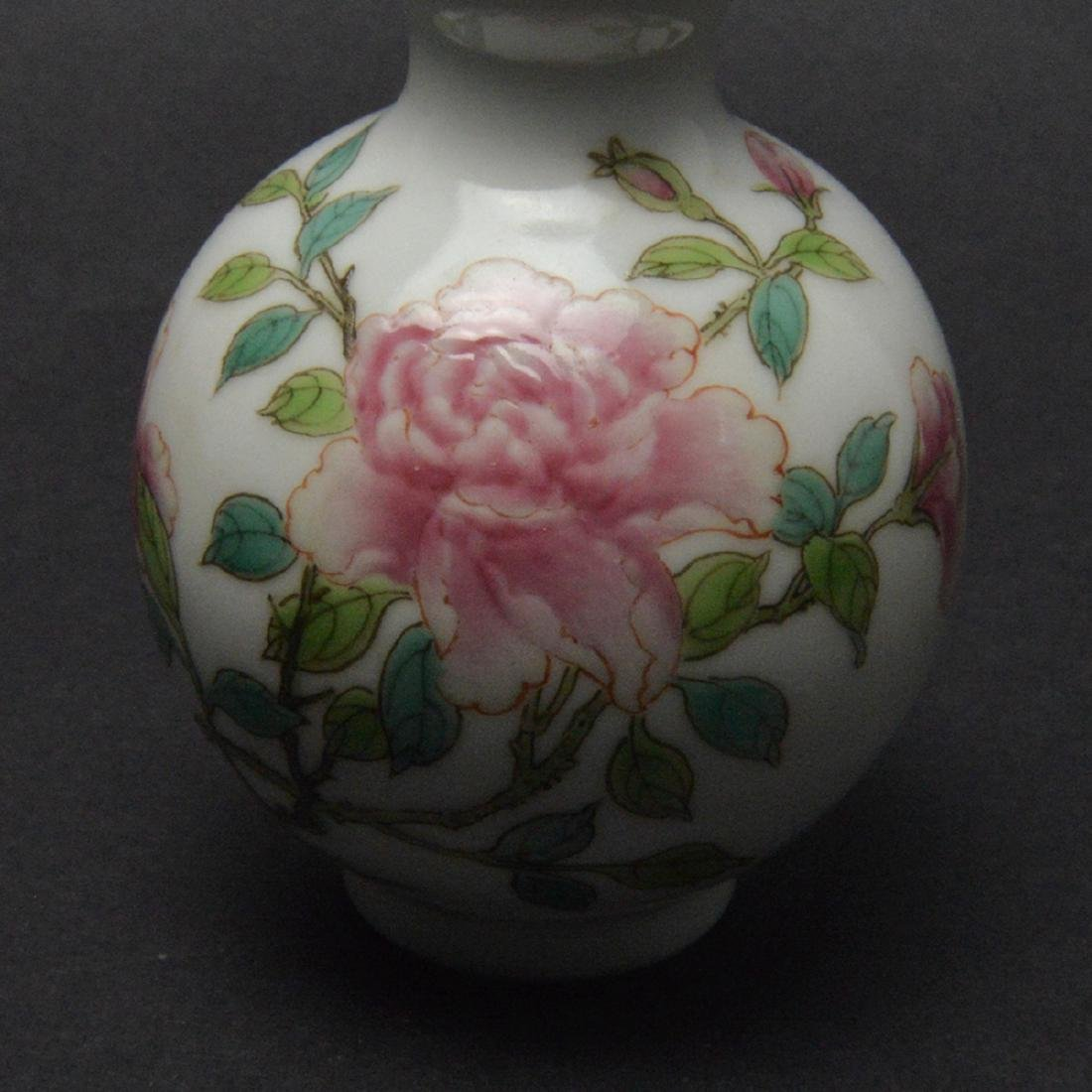 CHINESE FAMILLE ROSE DOUBLE GOURD VASE - 5