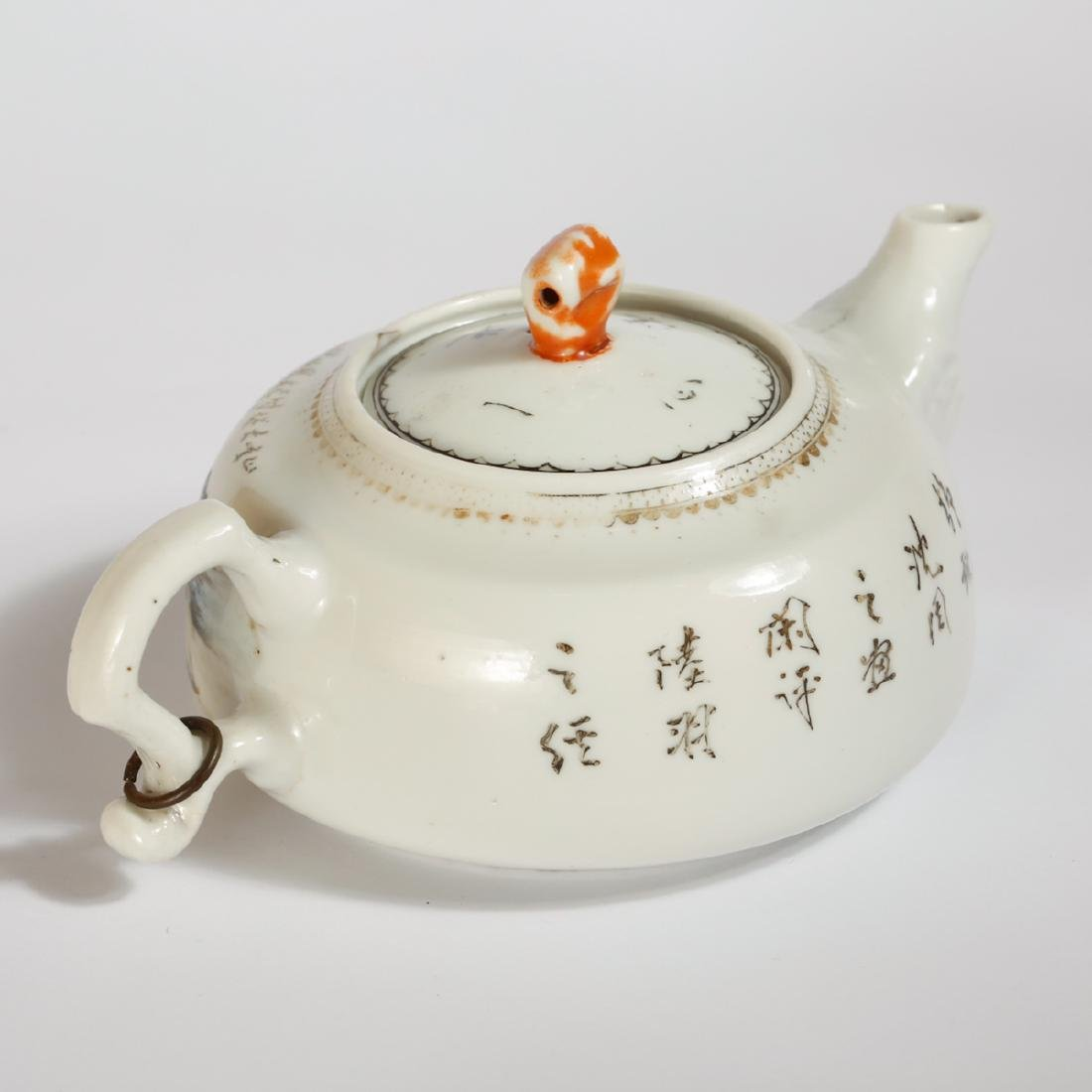 CHINESE FAMILLE ROSE PORCELAIN TEAPOT - 3