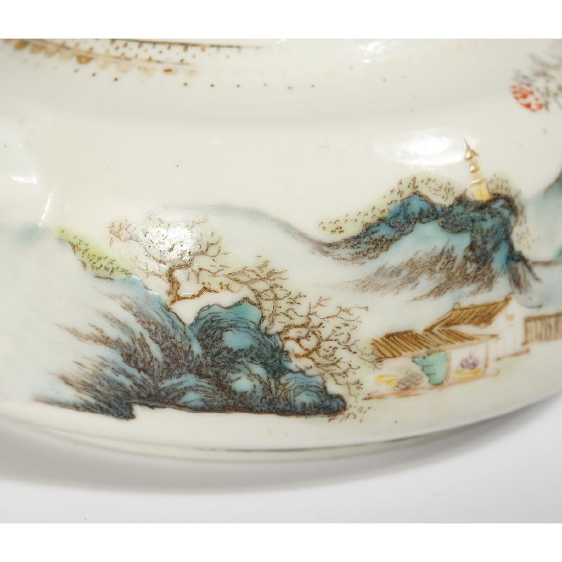 CHINESE FAMILLE ROSE PORCELAIN TEAPOT - 5