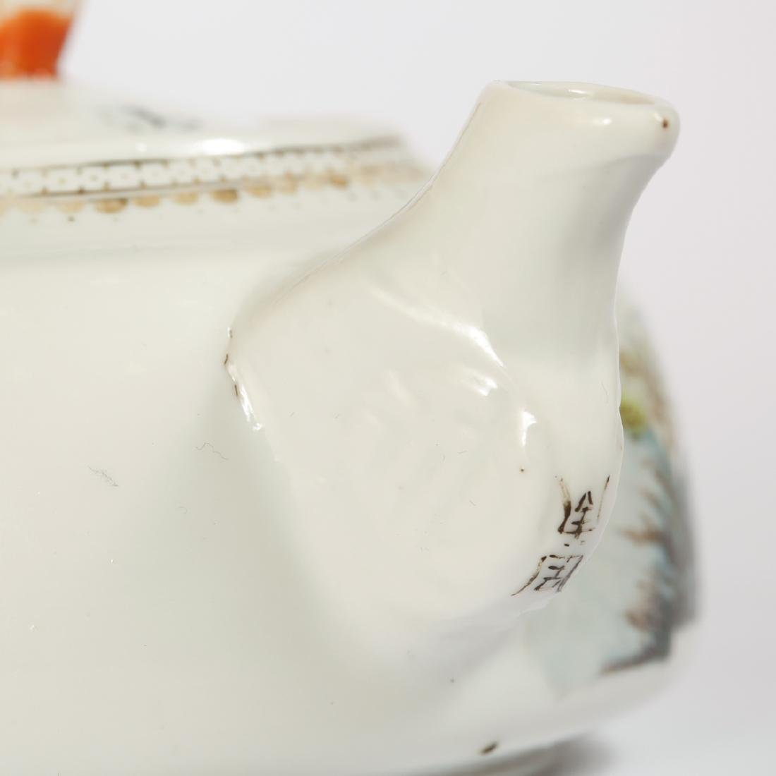 CHINESE FAMILLE ROSE PORCELAIN TEAPOT - 6