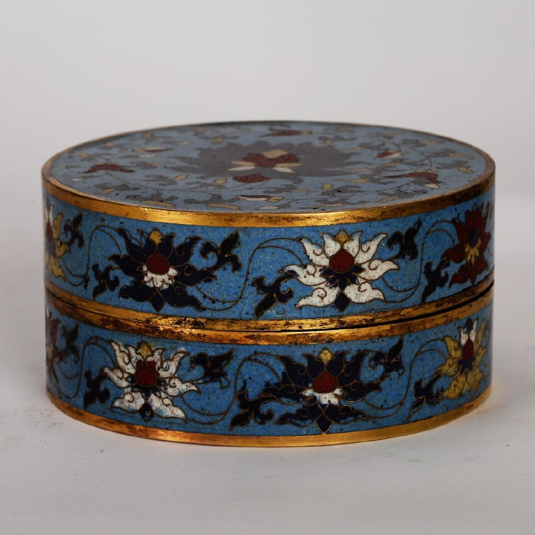CHINESE CLOISONNE COVER BOX