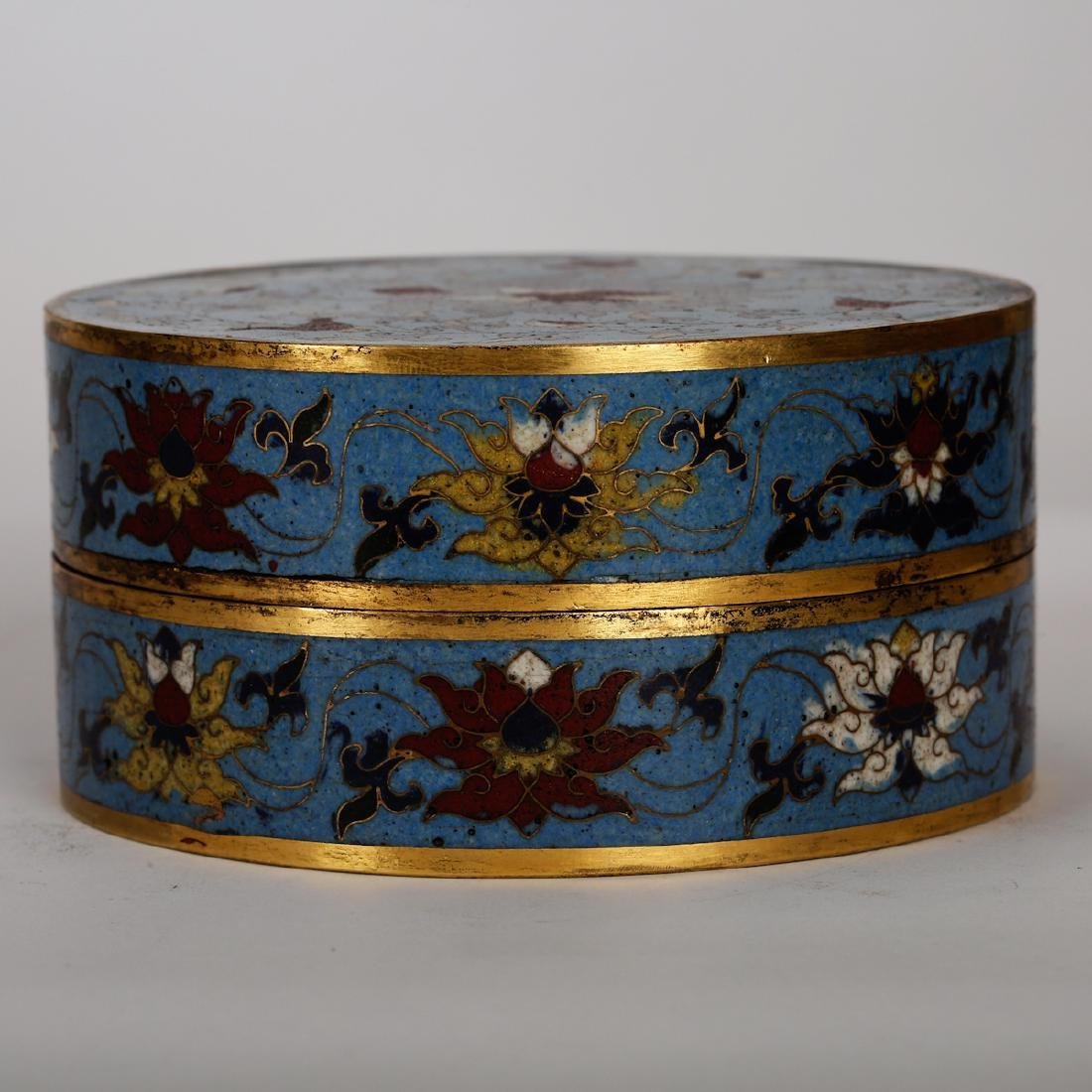 CHINESE CLOISONNE COVER BOX - 2