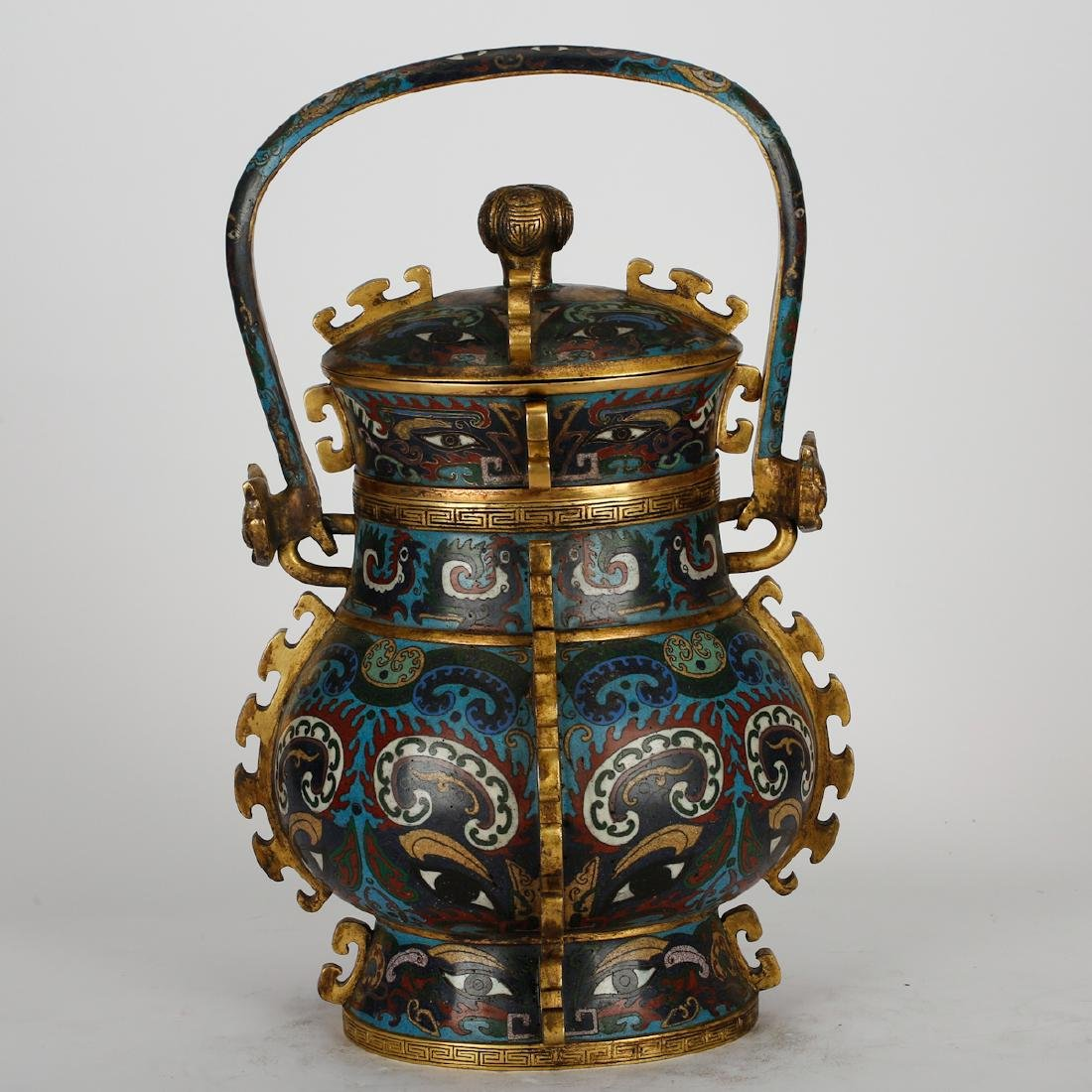 CHINESE CLOISONNE ARCHAIC STYLE VESSEL