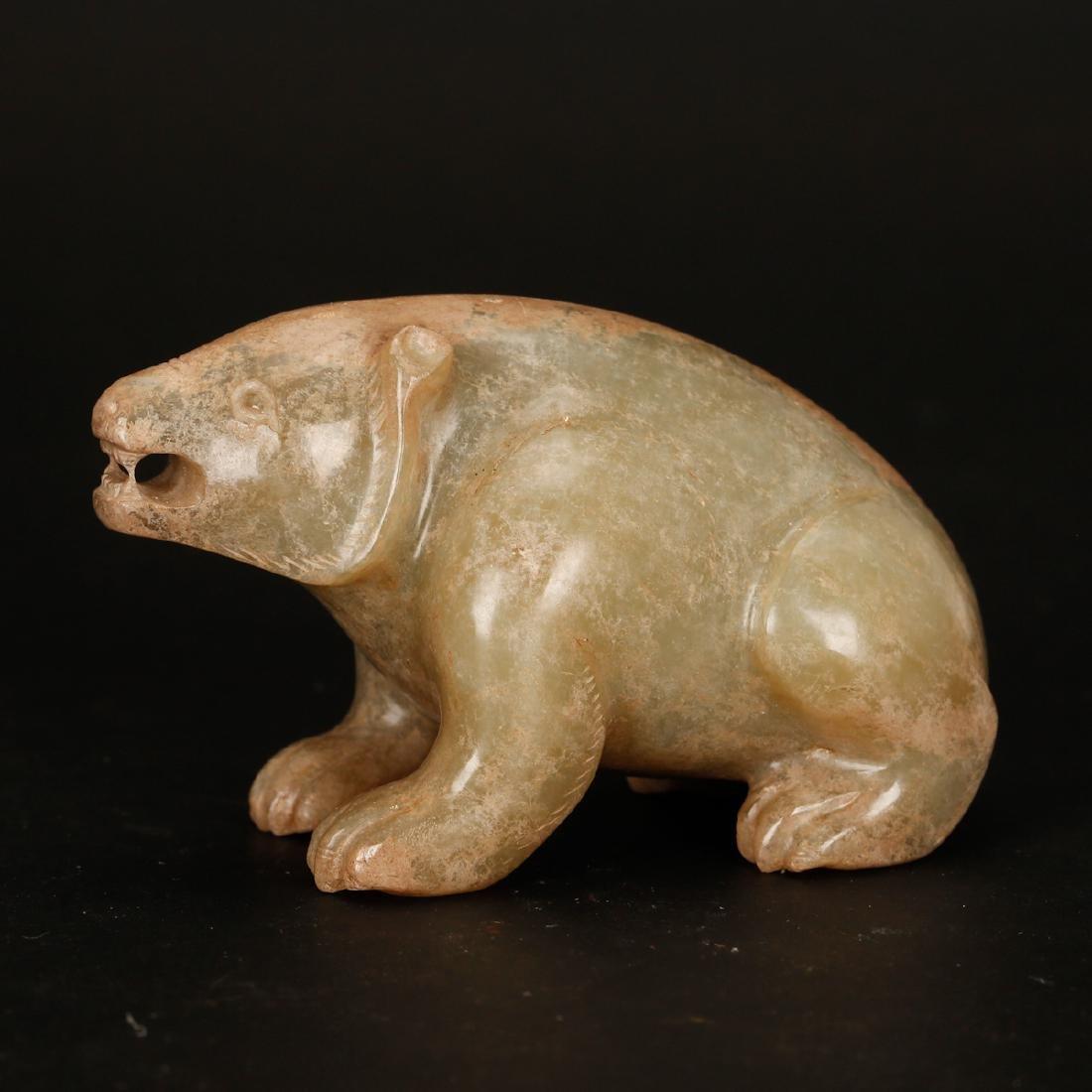 CHINESE ARCHAIC JADE BEAR