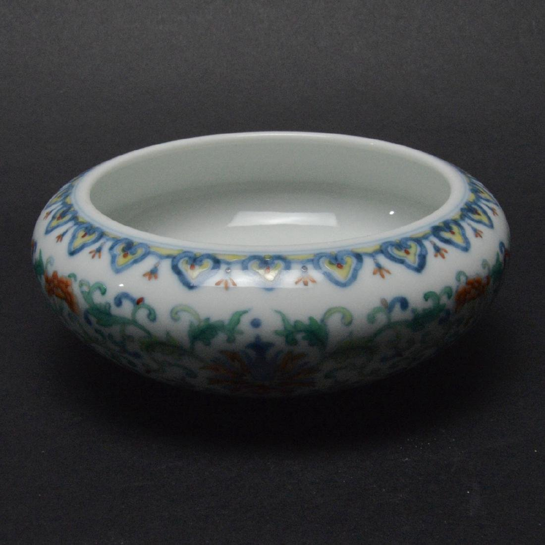 CHINESE DOUCAI PORCELAIN BRUSH WASHER - 3