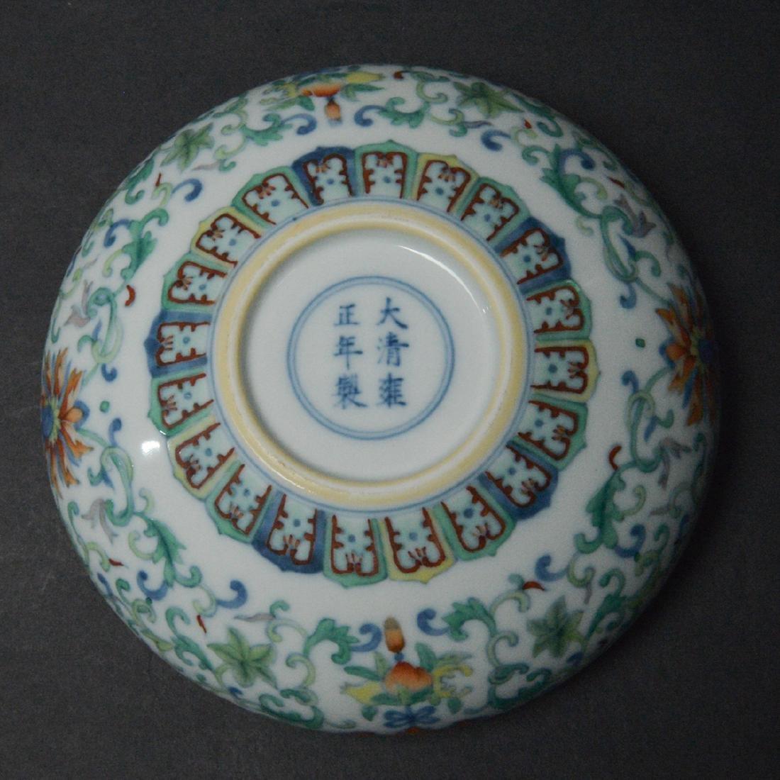 CHINESE DOUCAI PORCELAIN BRUSH WASHER - 6