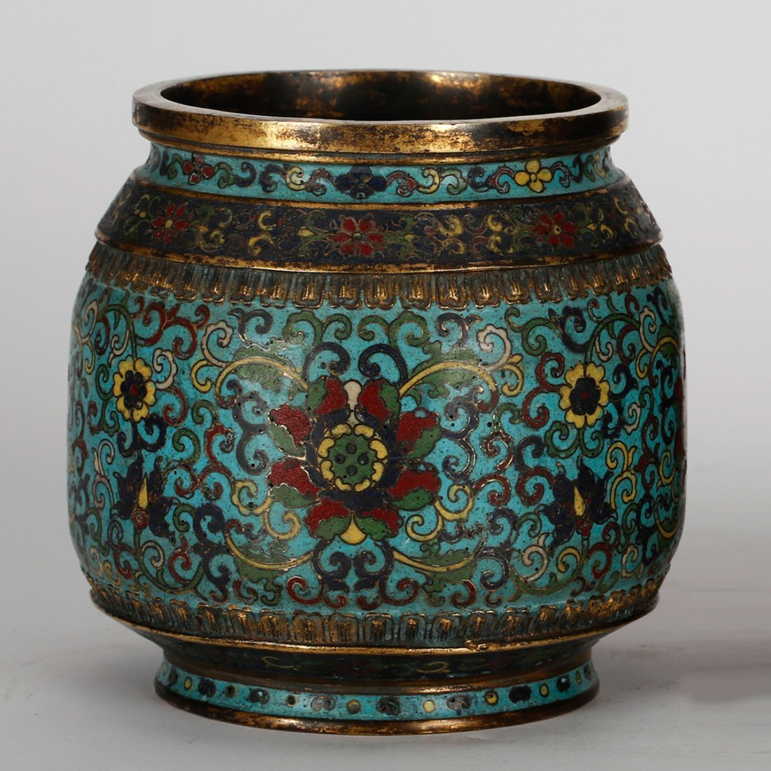 CHINESE CLOISONNE JAR