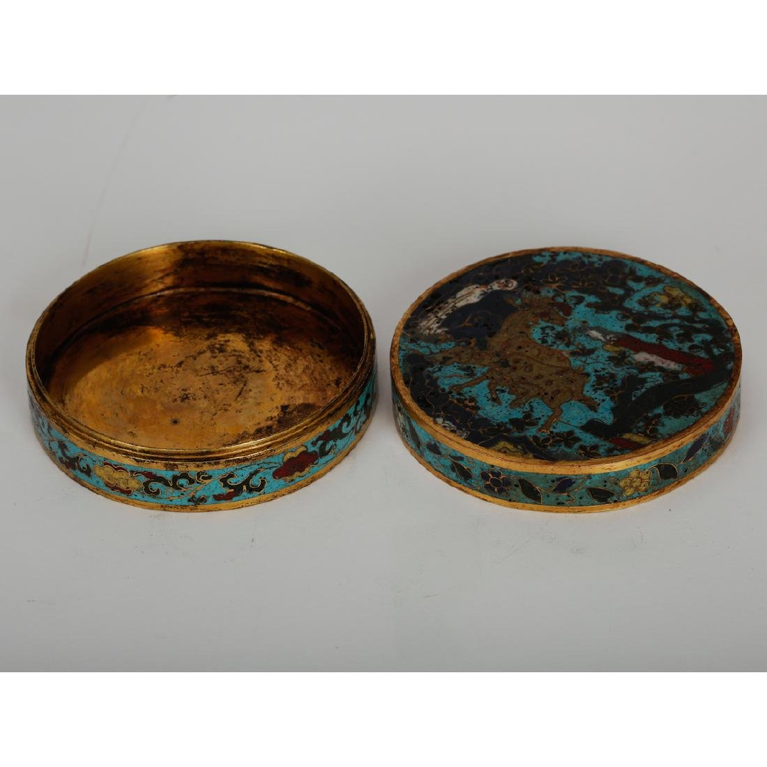 CHINESE CLOISONNE COVER BOX, PAIR - 4