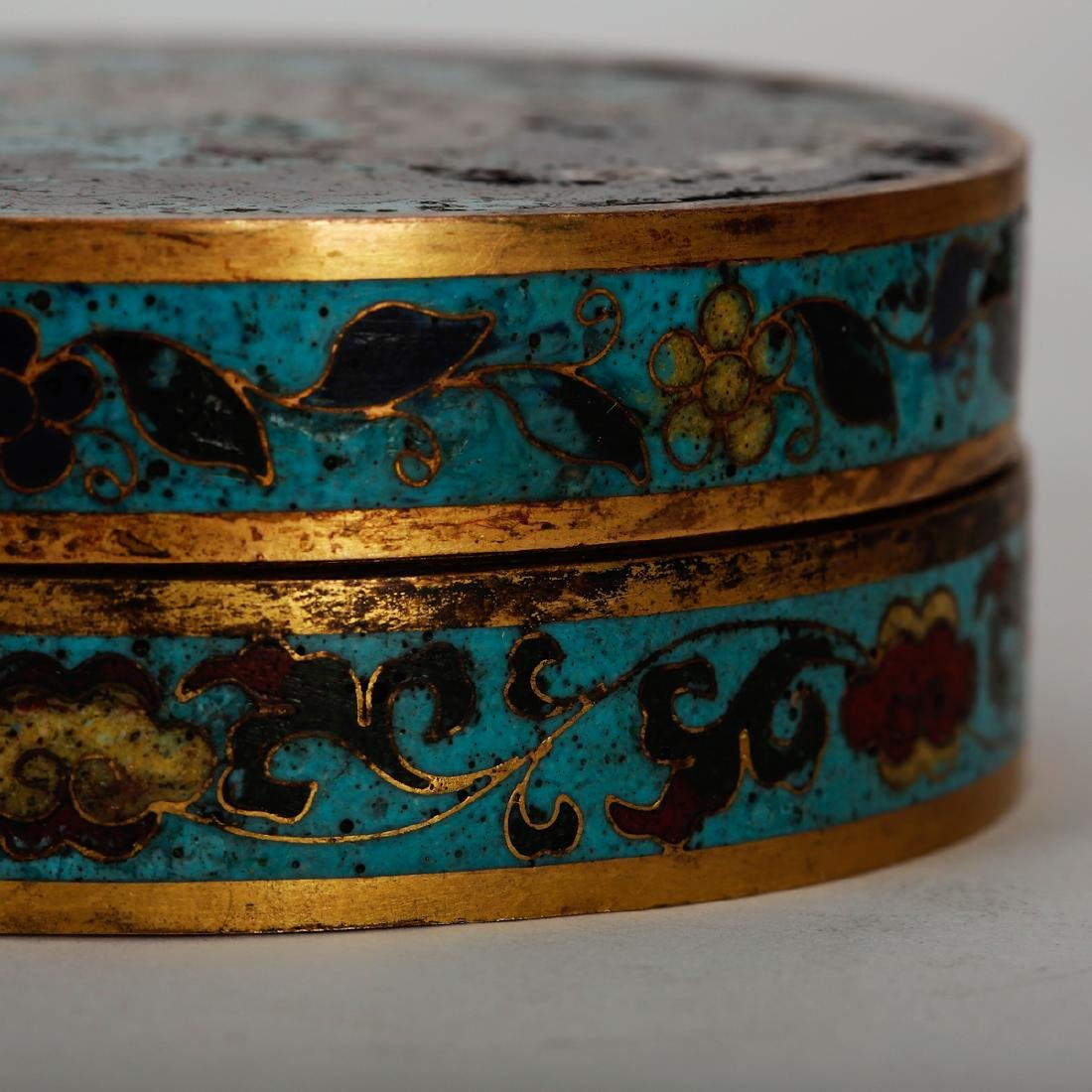 CHINESE CLOISONNE COVER BOX, PAIR - 5