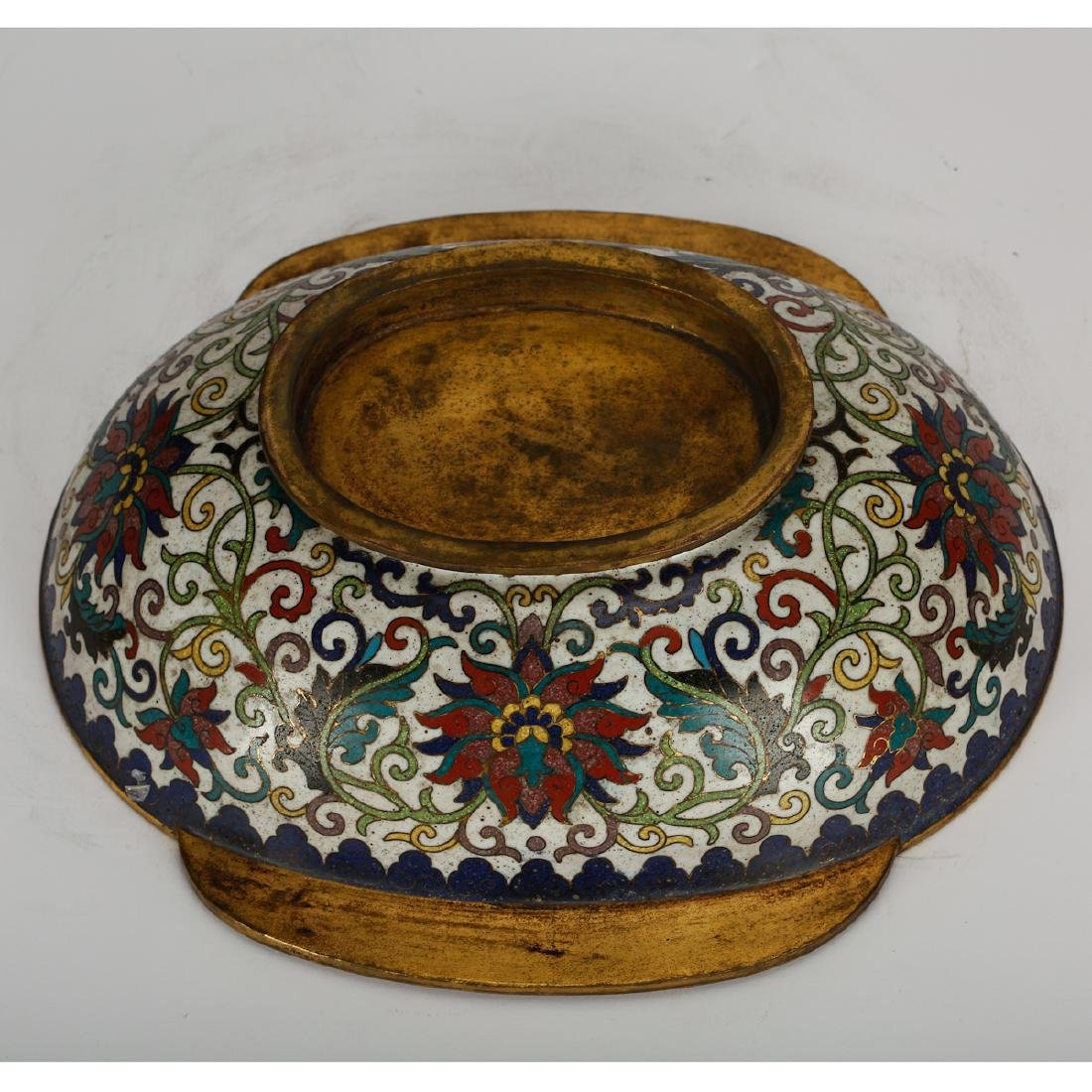 CHINESE CLOISONNE BOWL - 6