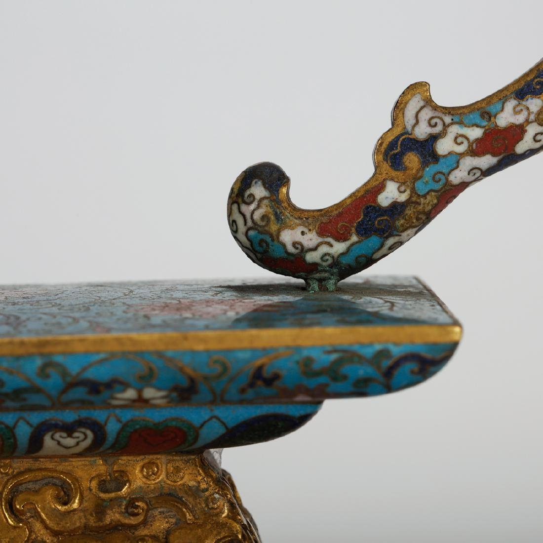 CHINESE CLOISONNE STAND - 3