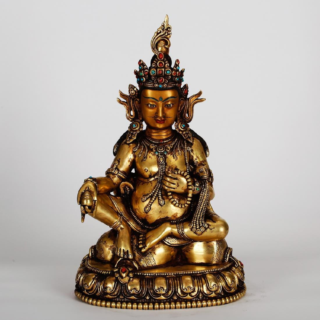 CHINESE GILT BRONZE GUANYIN