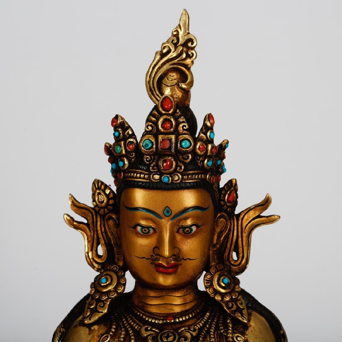 CHINESE GILT BRONZE GUANYIN - 2