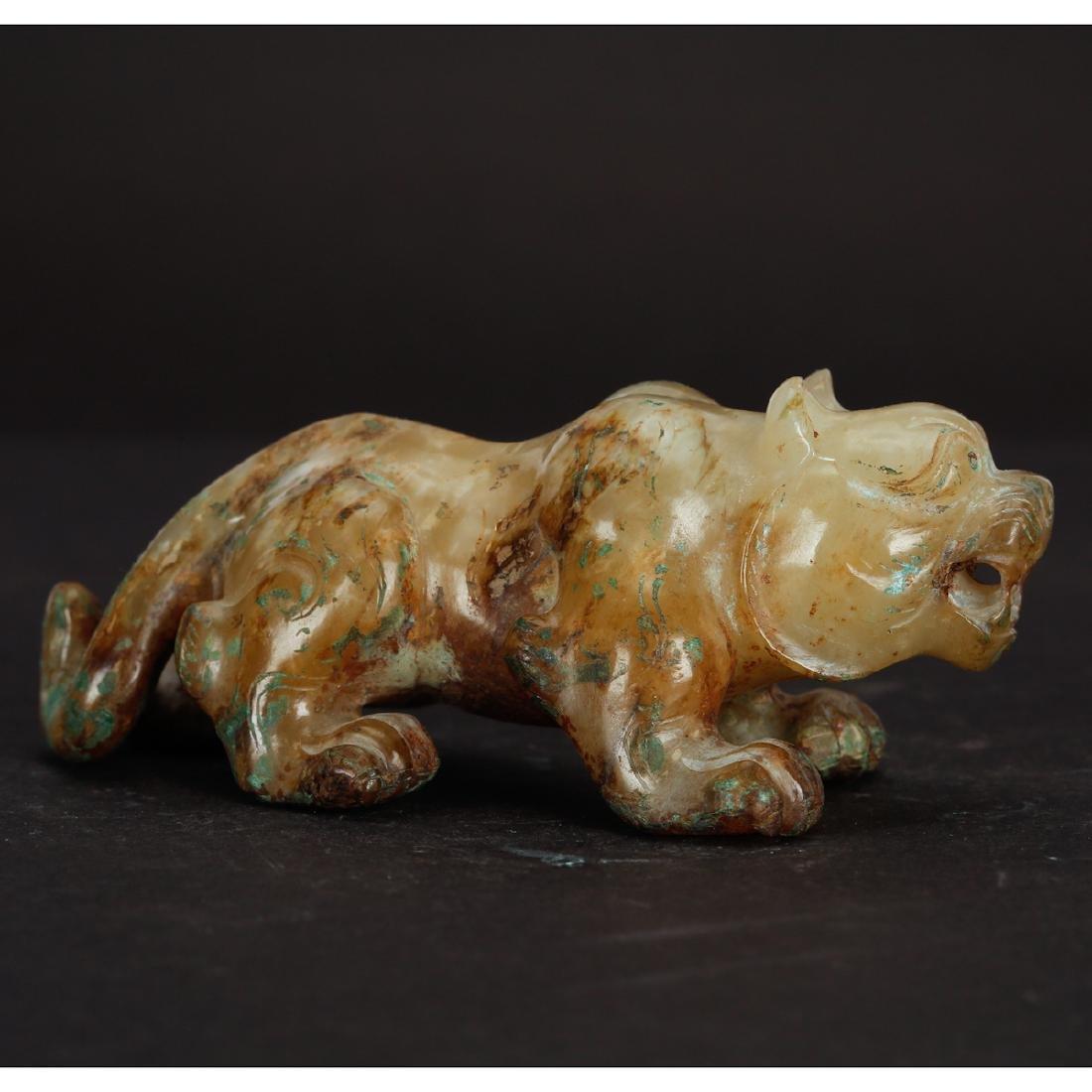 CHINESE ARCHAIC JADE BEAST - 2