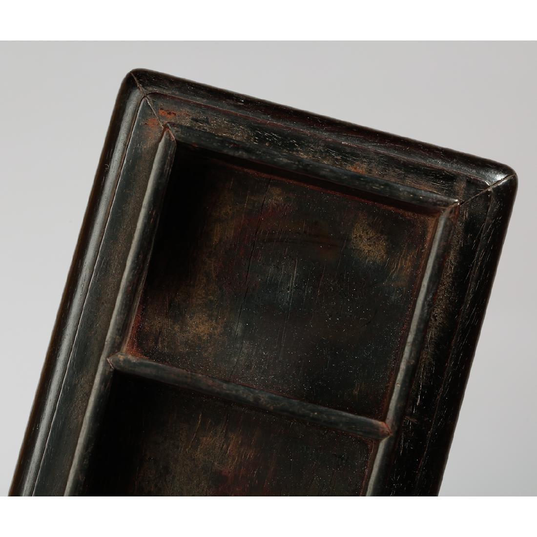 CHINESE ZITAN WOOD BOX WITH INLAID - 5