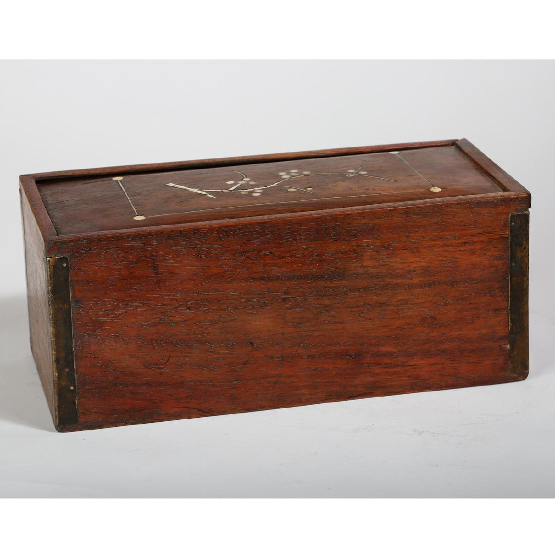 CHINESE HUALI WOOD COVER BOX - 3
