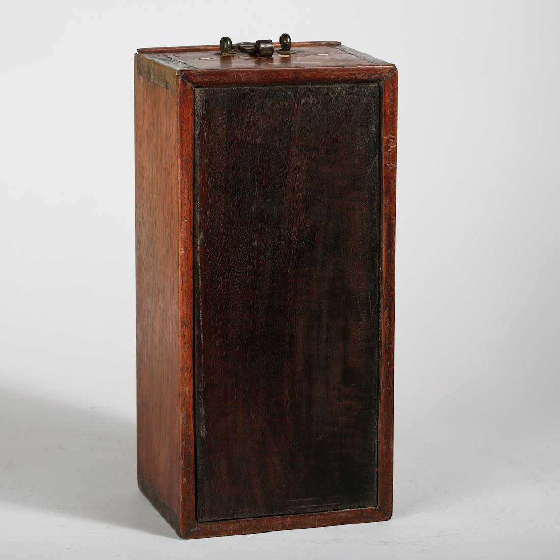 CHINESE HUALI WOOD COVER BOX - 5