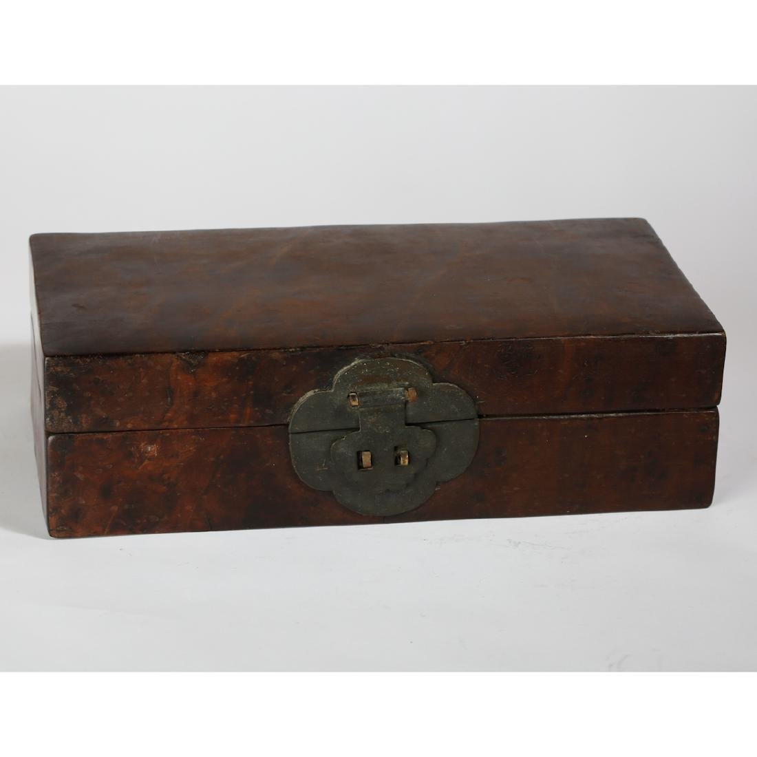 CHINESE BURL WOOD BOX