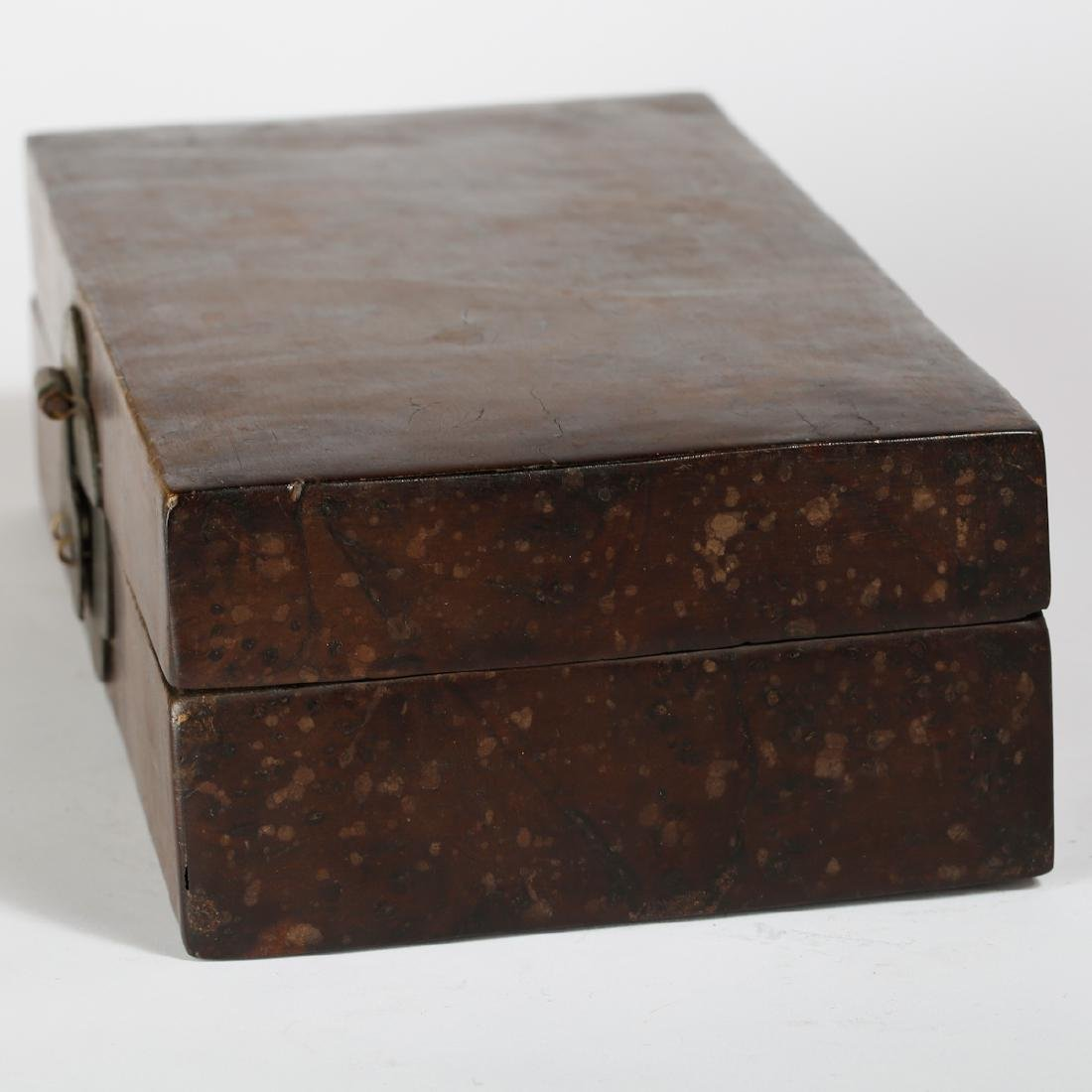 CHINESE BURL WOOD BOX - 3