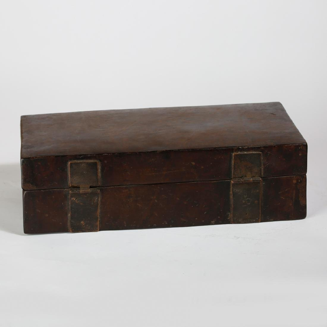 CHINESE BURL WOOD BOX - 4