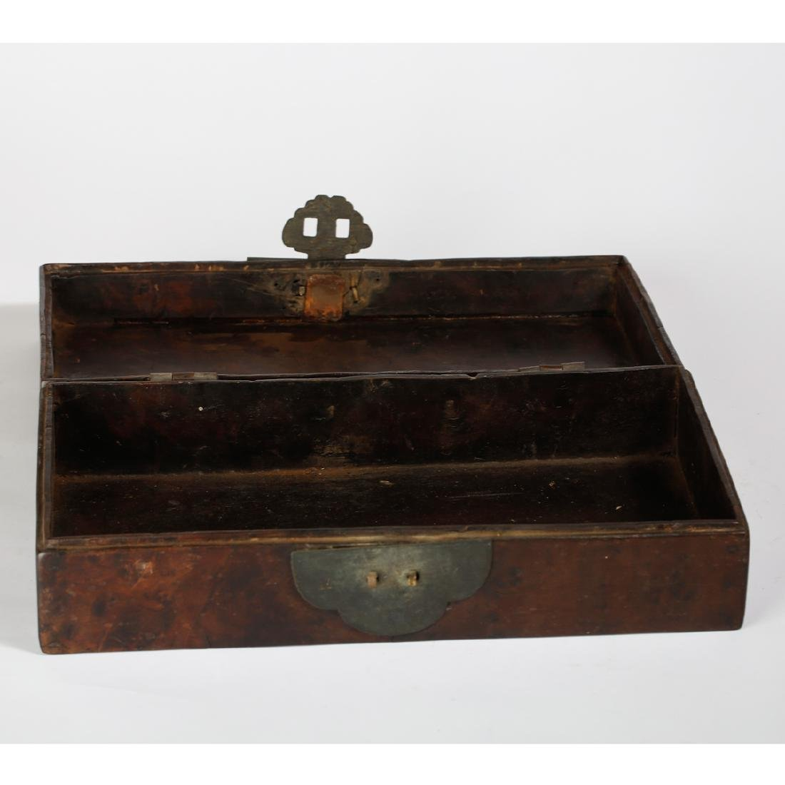 CHINESE BURL WOOD BOX - 6