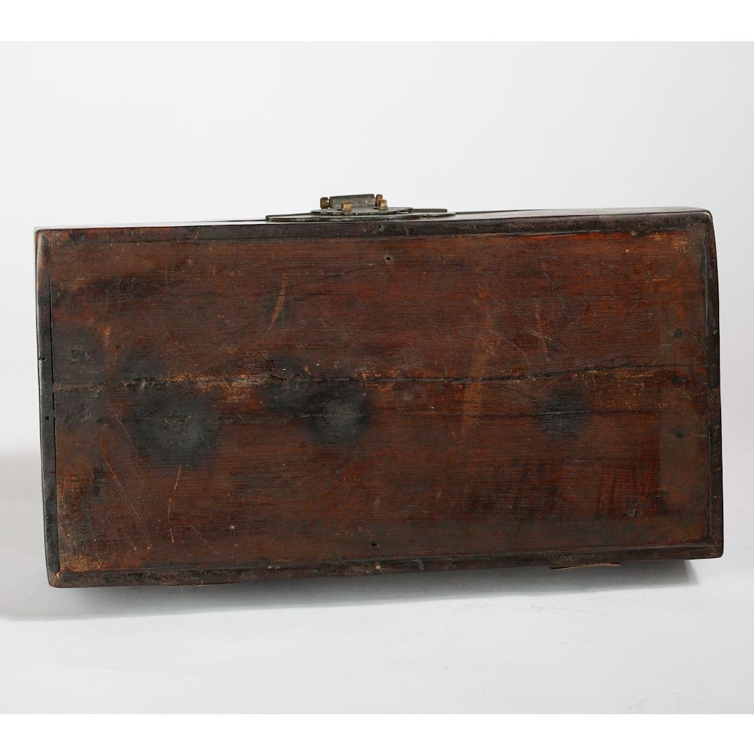 CHINESE BURL WOOD BOX - 7