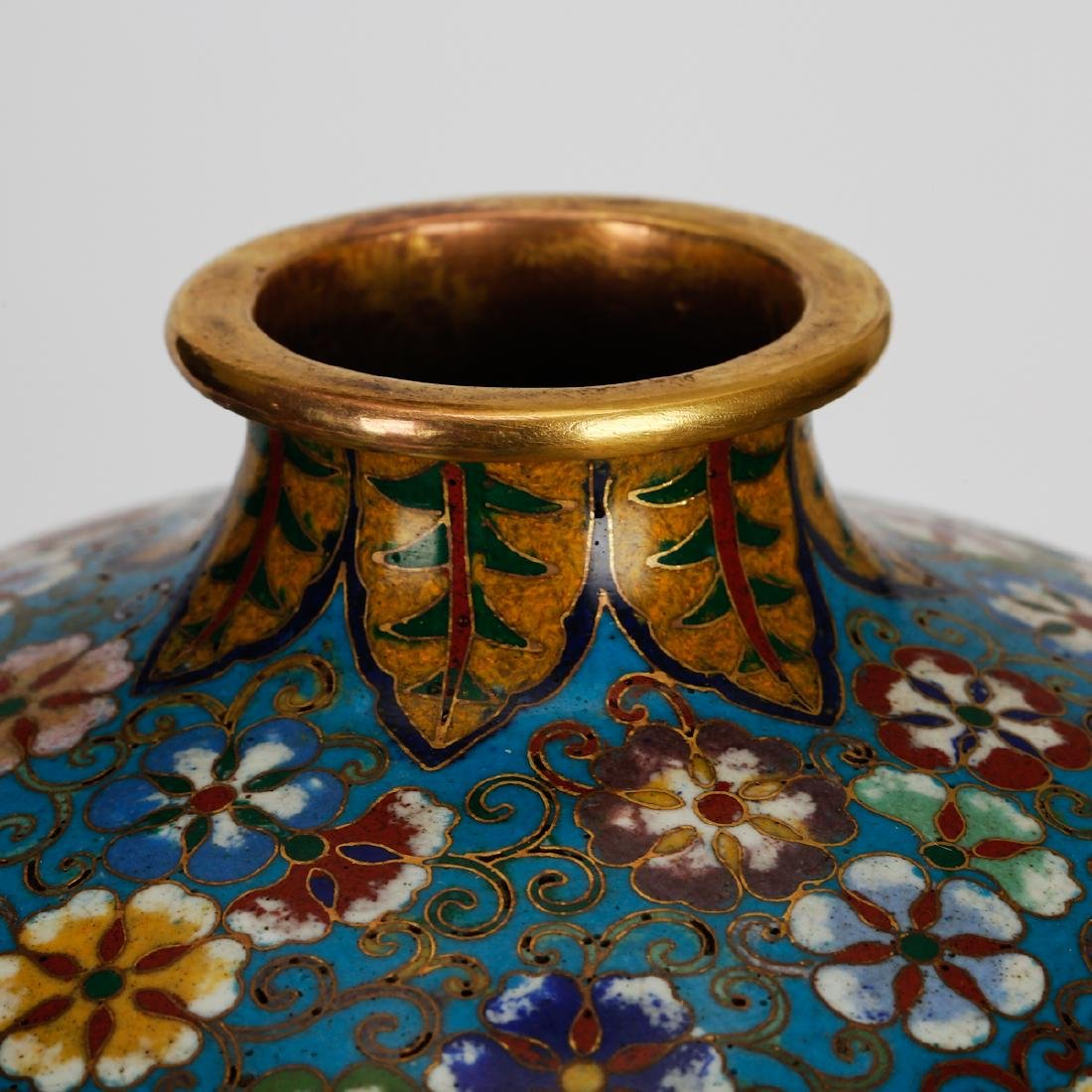 CHINESE CLOISONNE MEIPING VASE, PAIR - 3