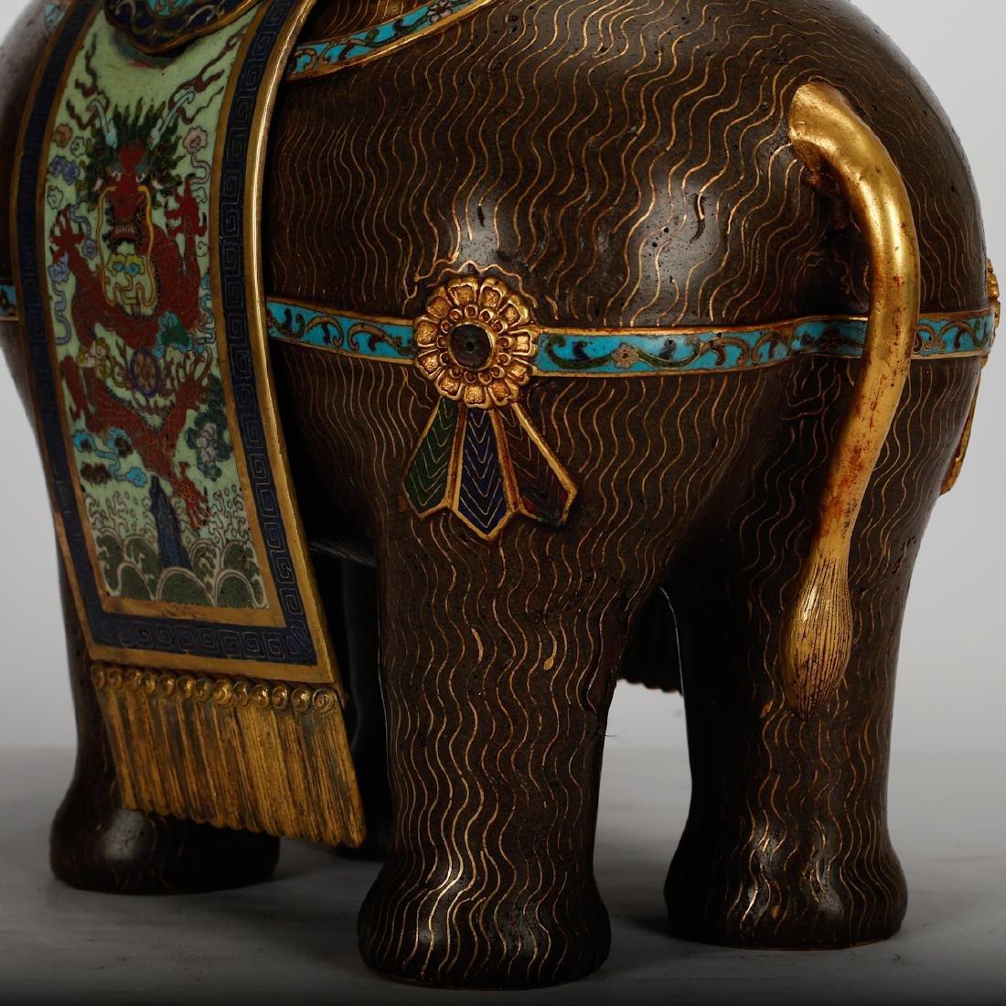 CHINESE CLOISONNE ELEPHANTS, PAIR - 6