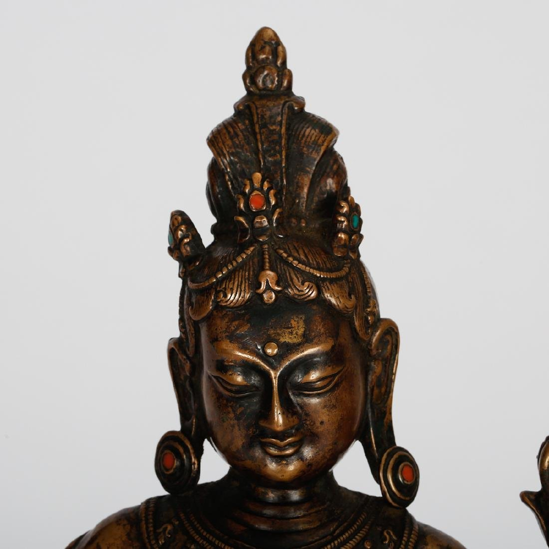 CHINESE BRONZE FIGURE OF GUANYIN - 2