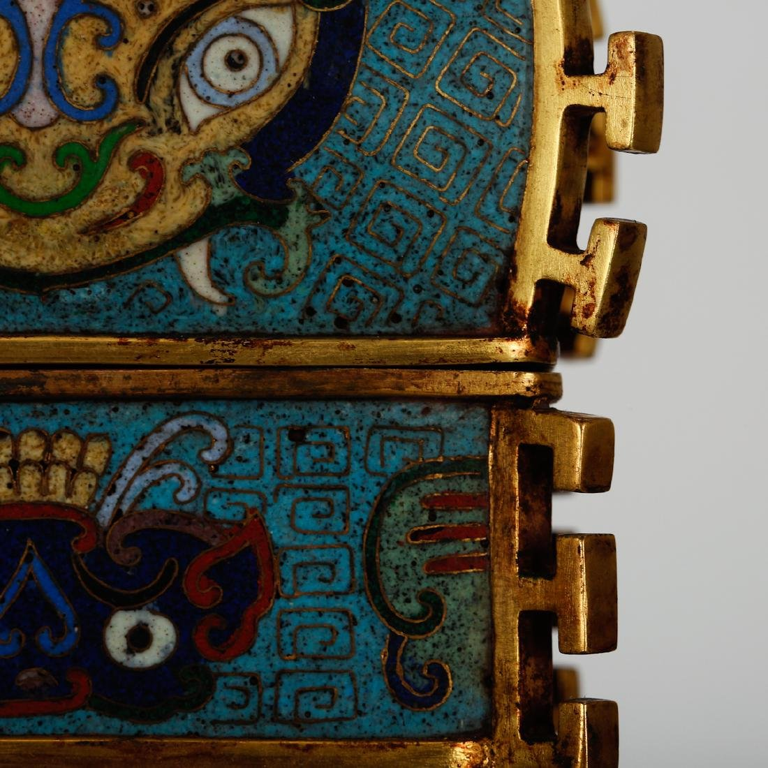CHINESE CLOISONNE ARCHAIC STYLE VESSEL - 5