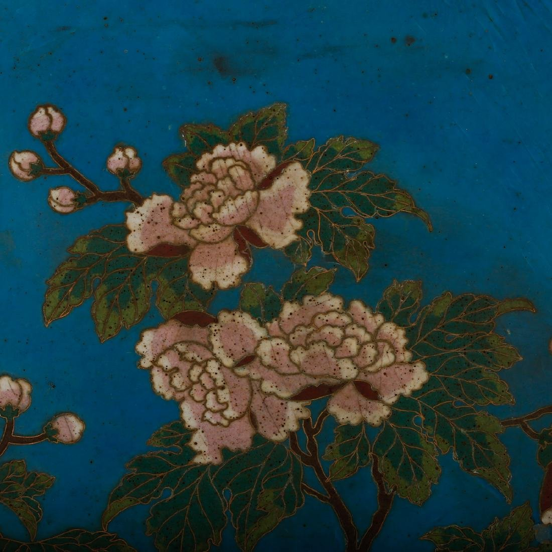 CHINESE CLOISONNE WALL PANEL - 2