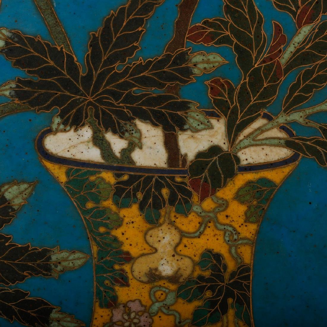 CHINESE CLOISONNE WALL PANEL - 4