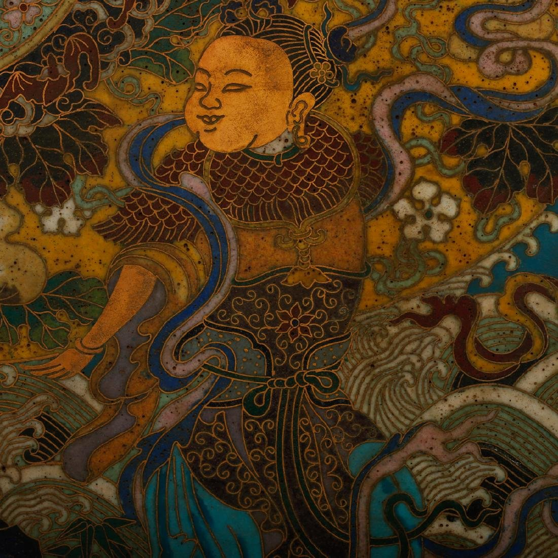 CHINESE CLOISONNE WALL PANEL - 5