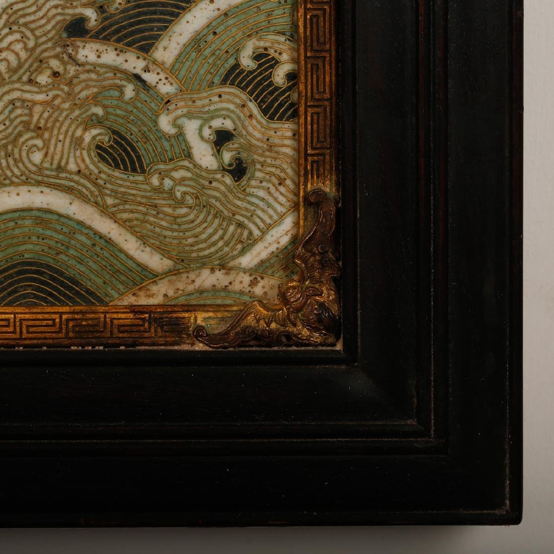 CHINESE CLOISONNE WALL PANEL - 6
