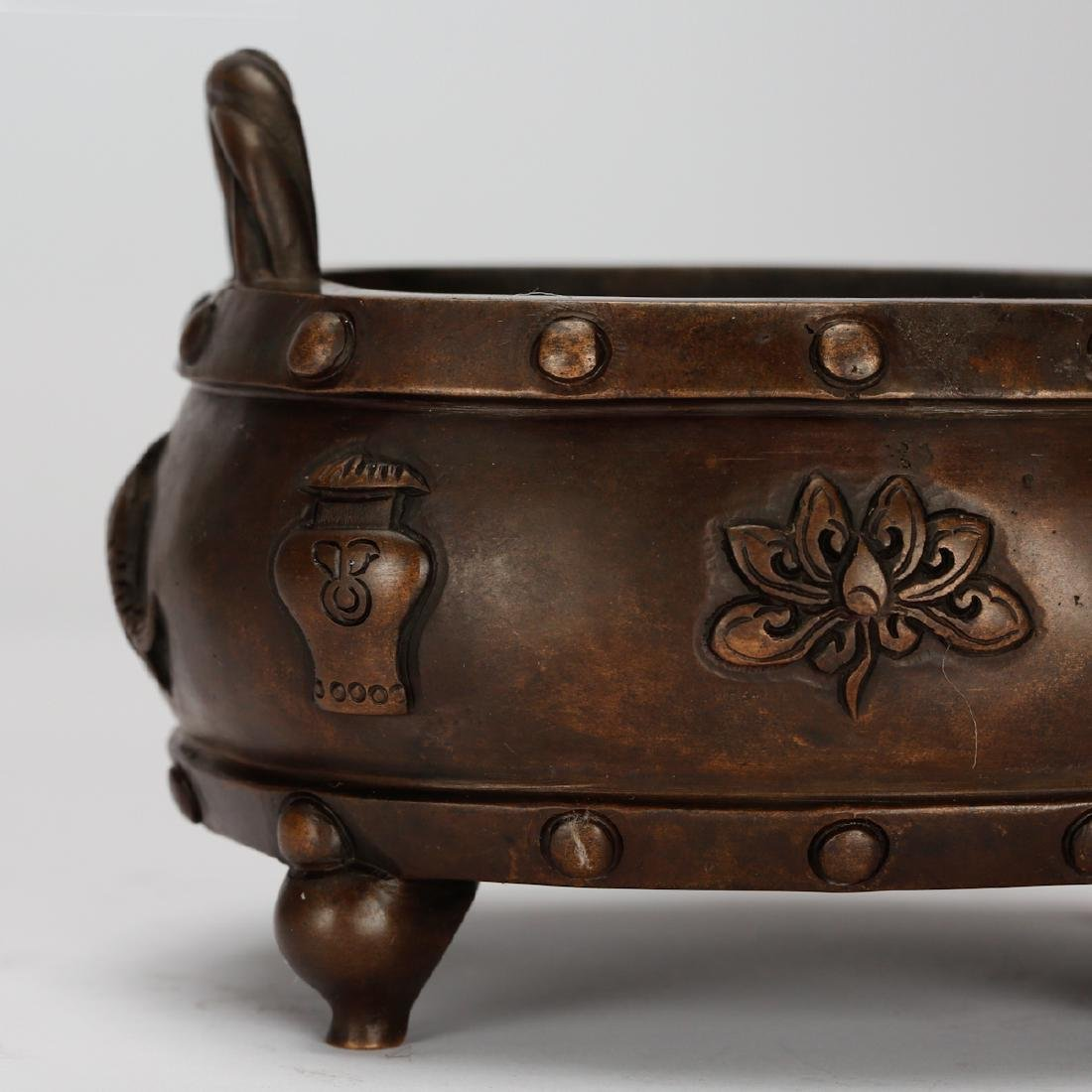 CHINESE BRONZE CENSER - 6