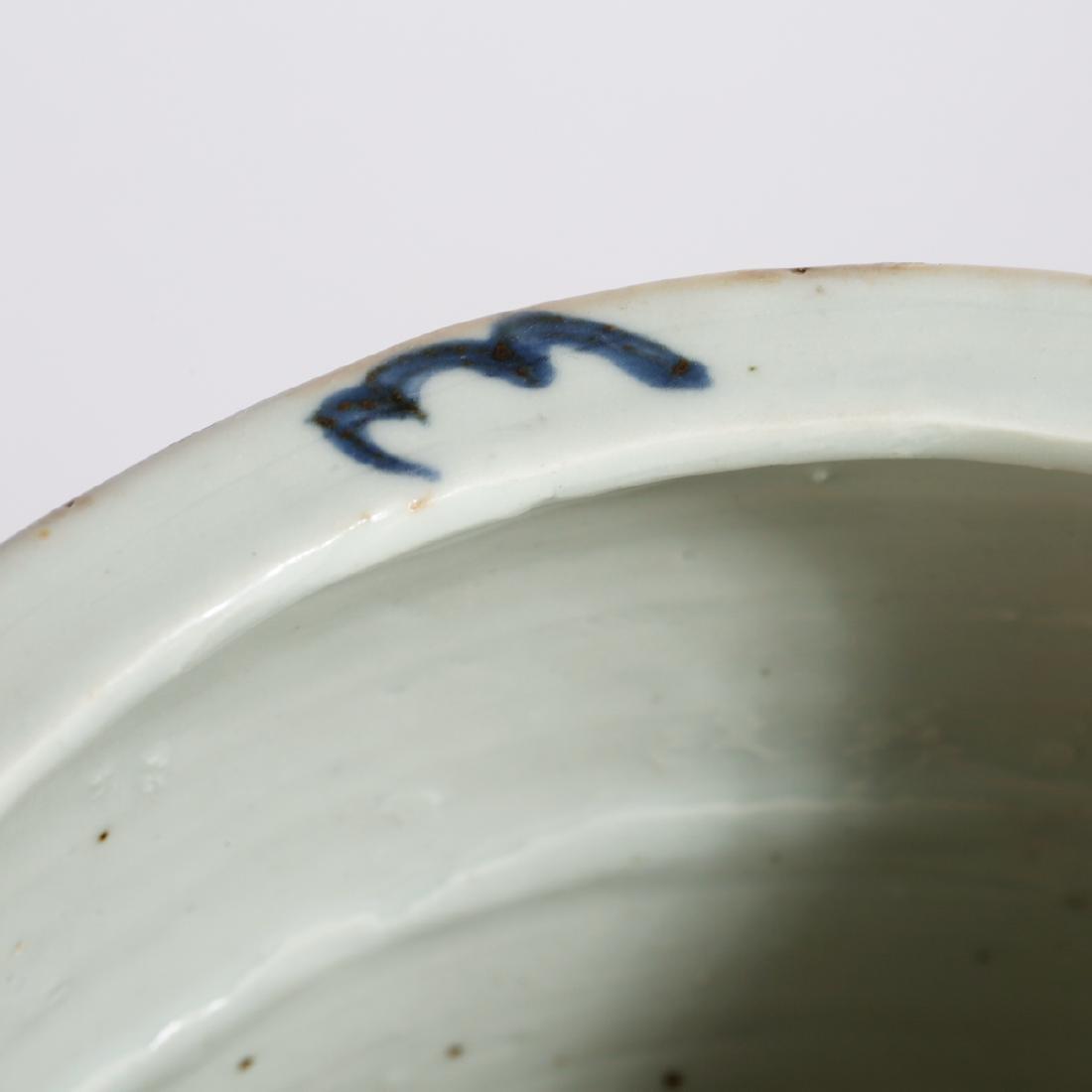 CHINESE BLUE AND WHITE PORCELAIN CENSER - 5