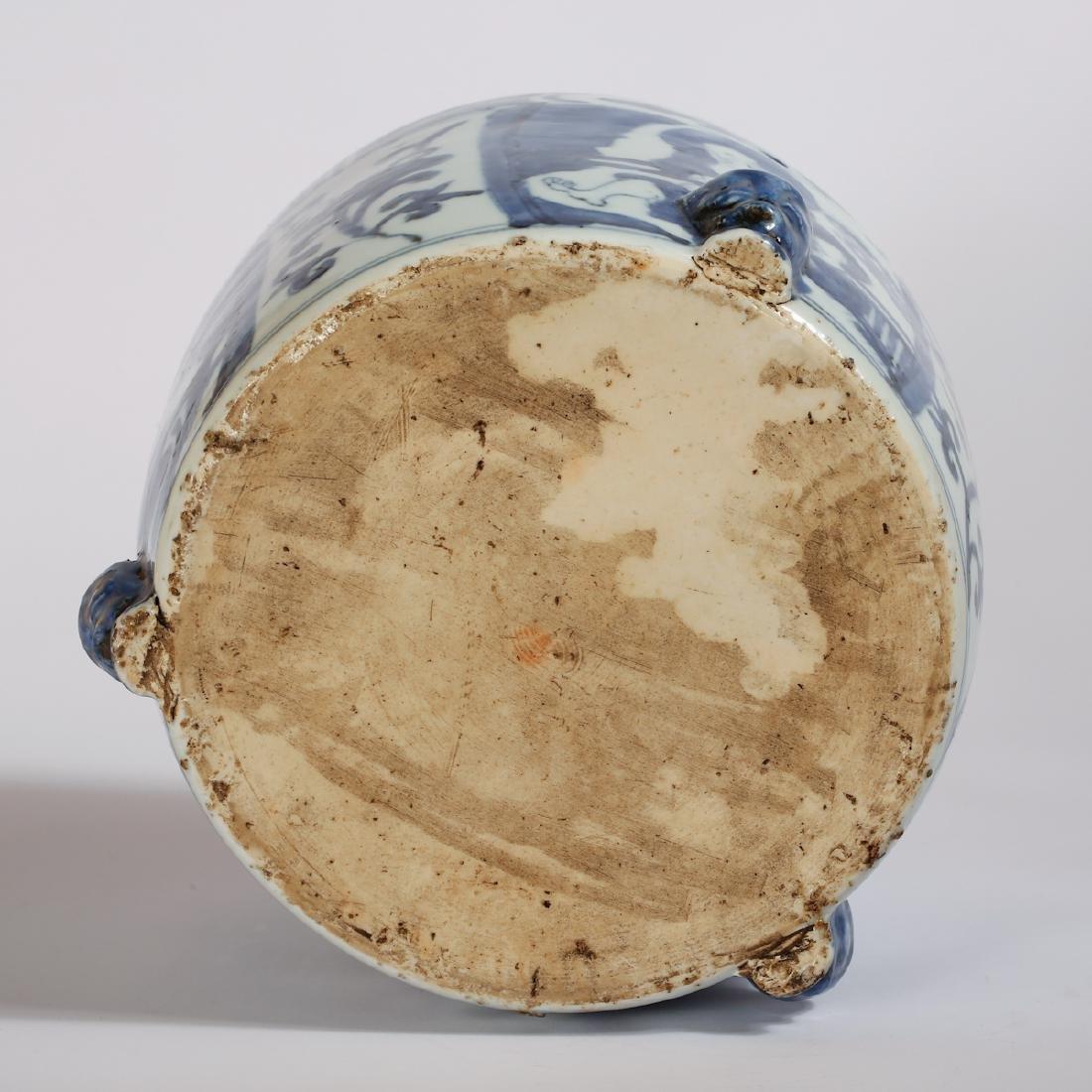 CHINESE BLUE AND WHITE PORCELAIN CENSER - 8