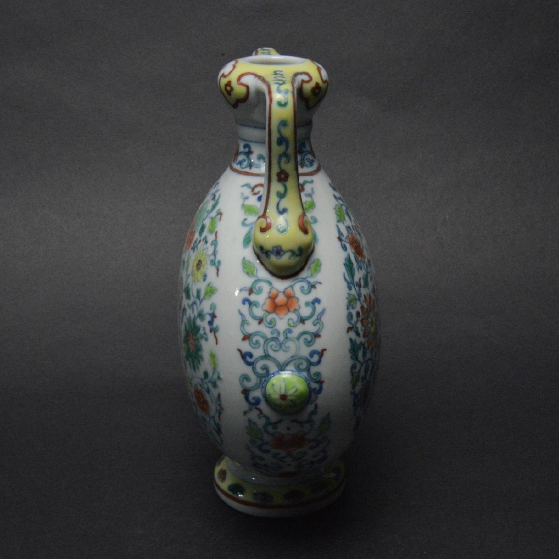 CHINESE DOUCAI MOON FLASK VASE - 2