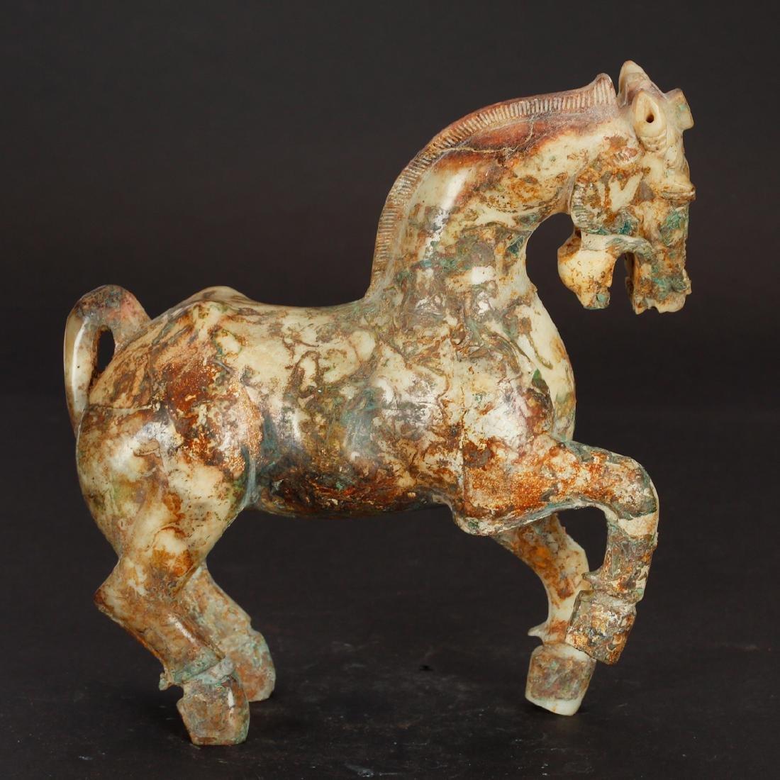 CHINESE ARCHAIC JADE HORSE - 3