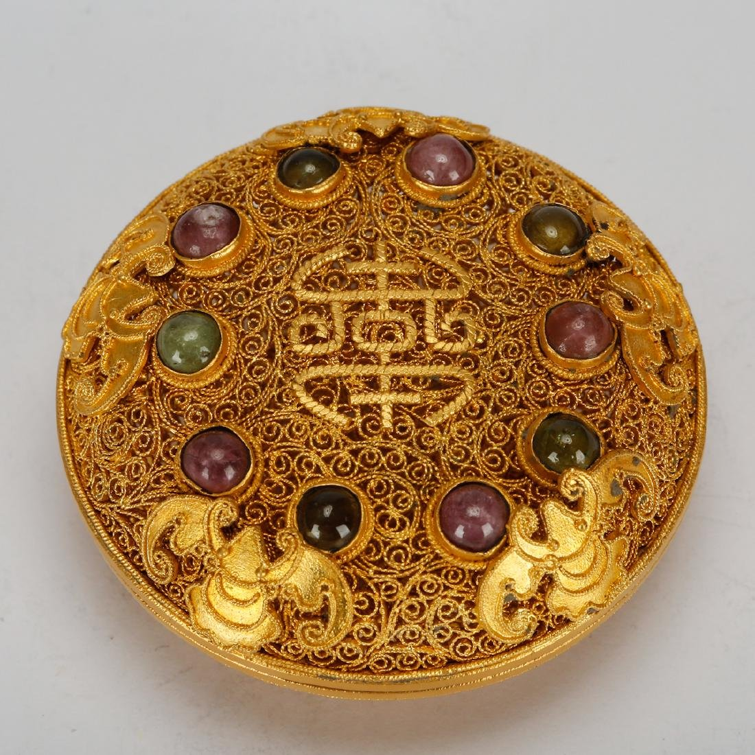 CHINESE GOLD WIRING JEWELRY BOX