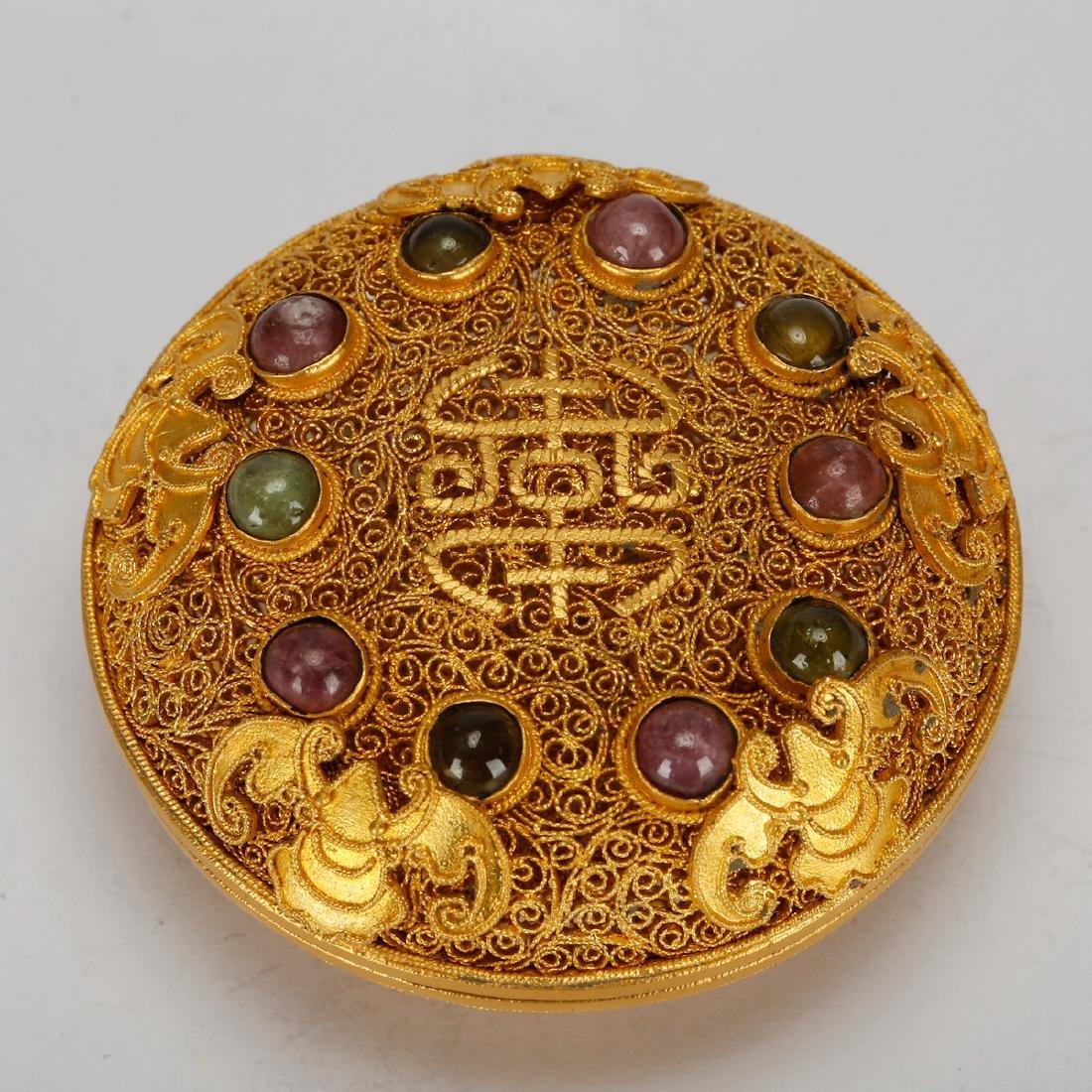 CHINESE GOLD WIRING JEWELRY BOX