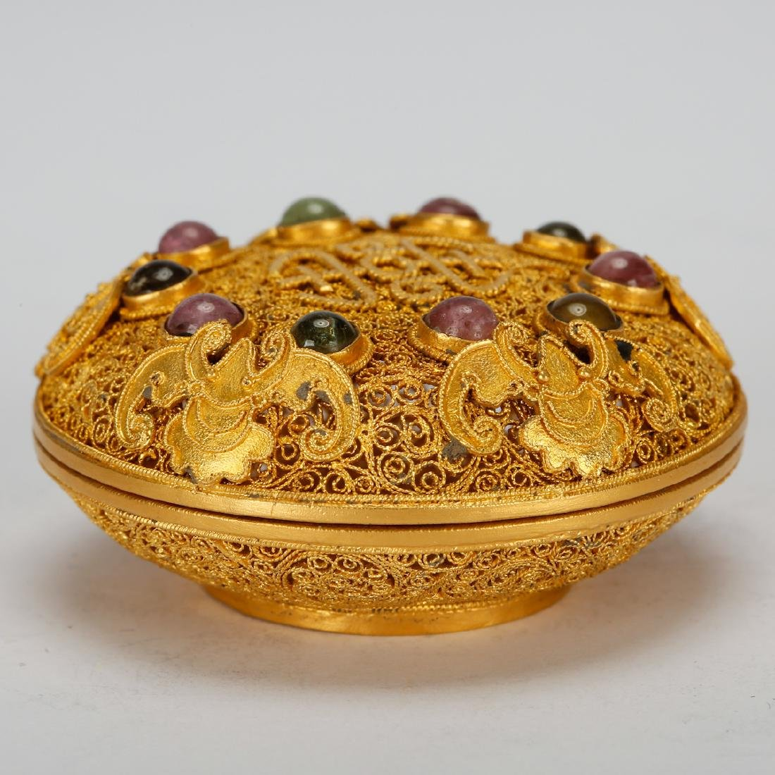 CHINESE GOLD WIRING JEWELRY BOX - 2